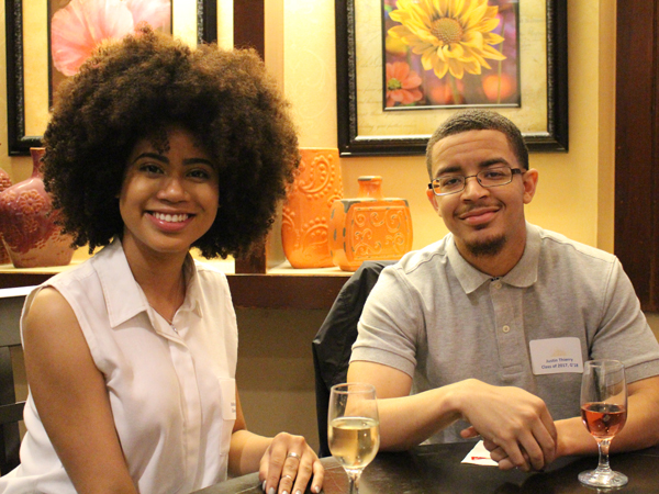 Ediliza Peralta '17 and Justin Thierry '17 G'18