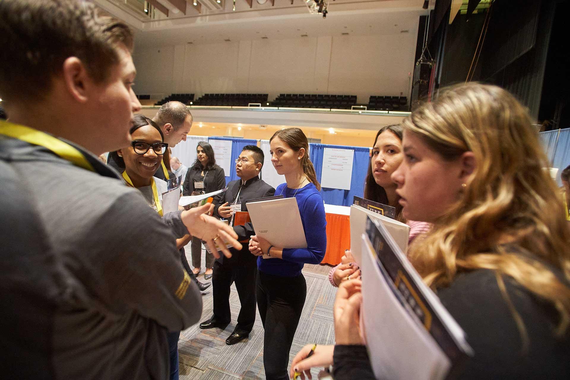Students discuss their career fair experiences