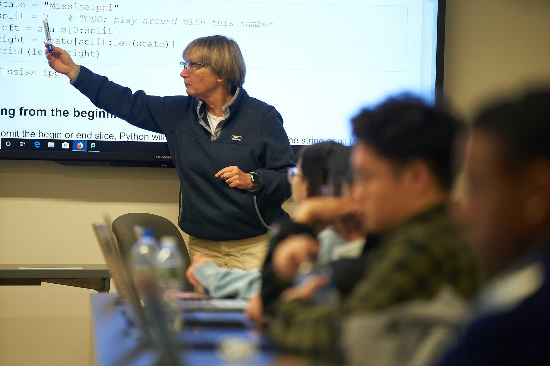 Professor Deb Nosky teaching