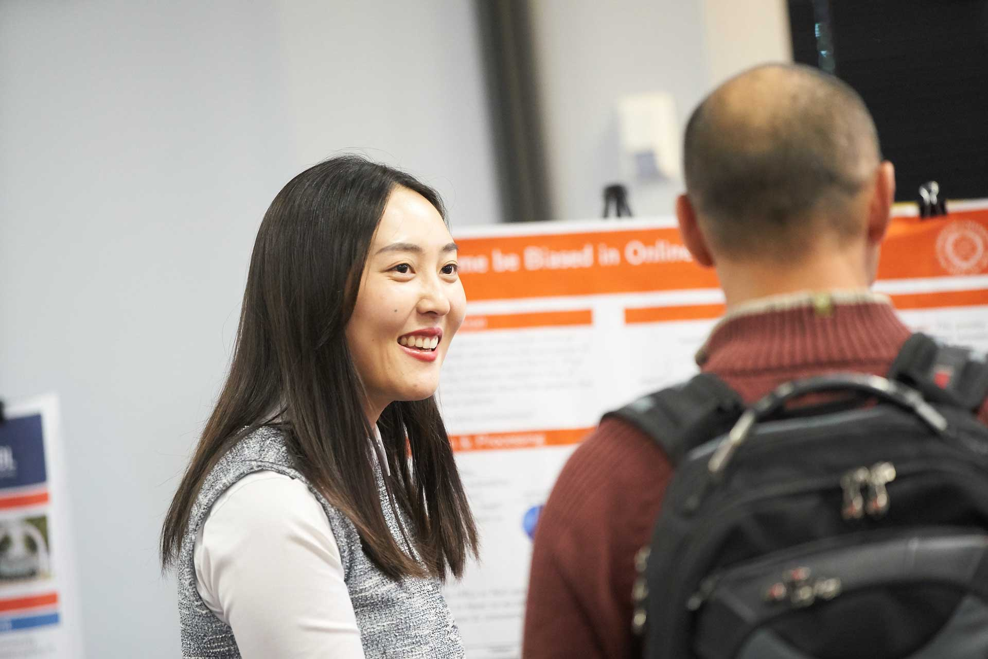 Qunfang Wu explains her poster on the fear of crime online