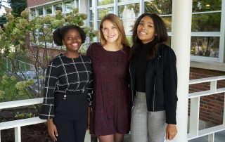 Nobi Nyabonda, Sophie Estep, and Cayla Dorsey