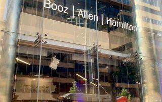 Booz Allen Hamilton sign