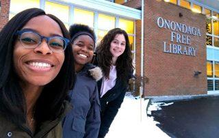 iSchool students Kahssia Hills, Sydney Paul, and Malaika Howard