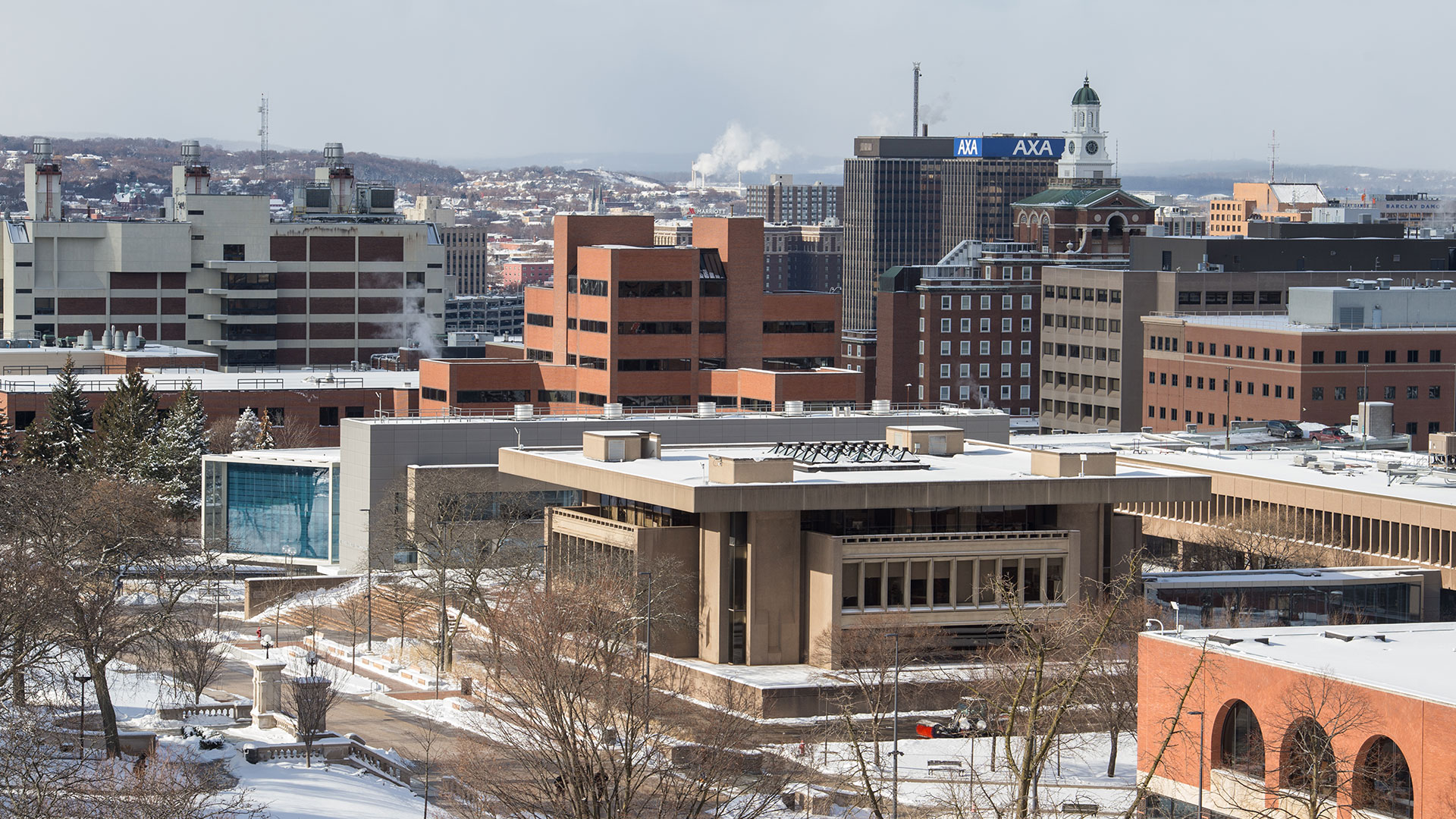 View of the city of Syracuse from campus